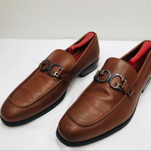 Guess Mens Brown Apron Toe Loafer Size 10M - NWOB